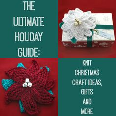 The Ultimate Holiday Guide: 345 Knit Christmas Craft Ideas Gifts and More | AllFreeKnitting.com This holiday season, eliminate the stress of searching for the perfect gifts by making your own one-of-a-kind presents and decorations. Inside The Ultimate Holiday Guide: 345 Knit Christmas Craft Ideas, Gifts and More, you'll find an array of free Christmas knitting patterns that are ideal for holiday celebrations.