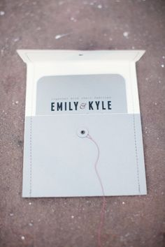 Love the envelope #weddings #invitations