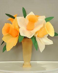 Martha Stewart's Crepe Paper Daffodils