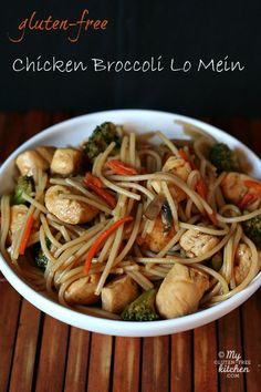 Chicken Broccoli Lo Mein {Gluten-free}