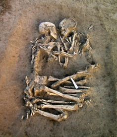 The Lovers of Valdaro, locked in an eternal embrace, were believed to be no older than twenty years of age when death occurred.  Tragically, their story is unknown. Ironically, they were found in the city of Mantua in Italy - the same city Shakespeare chose to set the story of Romeo & Juliet.