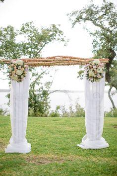 Gorgeous ceremony canopy: http://www.stylemepretty.com/texas-weddings/fort-worth/2014/02/10/romantic-lakeside-arm-wedding/   Photography: Ashley Bosnick - http://ashleybosnick.com/