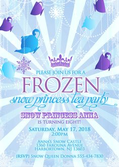 birthday parti, tea parti, frozen tea party, frozen parti, abigail parti