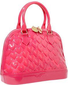 Luv Betsey Quilted Heart Jelly Dome Satchel.  $78.