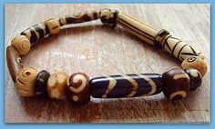 Bone Beads Unisex Bracelet by MereTrinkets, $16.00