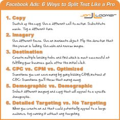 Facebook Advertising: 6 Ways to Split Test Like a Pro [Infographic]