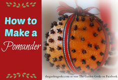 Making a pomander-so easy and smells AMAZING!
