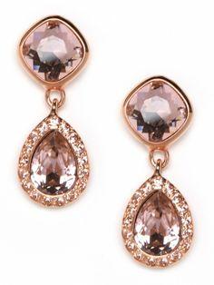 Rose gold earrings....