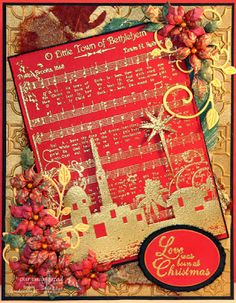 ODBDSLC177 Inspired by Song or Music Stamps - Our Daily Bread Designs O Little Town of Bethlehem, Chickadee Ornament