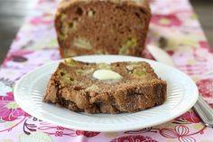 Rhubarb Apple Bread Recipe on twopeasandtheirpod.com. Love this quick bread recipe! #bread #rhubarb