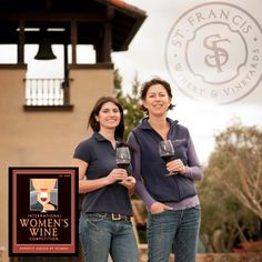 BRAVO! St. Francis wins 6 medals including 2 Double Gold - Best of Class at Women's Wine Competition! St. Francis Artisan Winemaker Heather Munden (right) took top honors at the Intl Women's Wine Competition, earning two Best of Class (Double Gold) Awards for her 2009 Sonoma Valley Cabernet Sauvignon and 2010 Montecillo Zinfandel. Over 860 wines were judged by a panel composed entirely of leading women in the wine industry--with 6 of Heather's Winery-only Artisan series wines collecting medals.