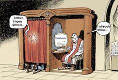 funni stuff, laugh, religious humor, sin, social media, facebook, fathers, socialmedia, confess