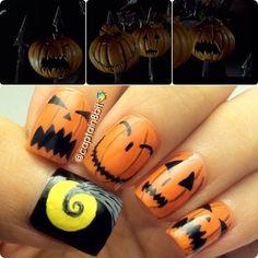 pumpkin nail, christmas nails, blue and red nails, nail nailart, halloween nailart, nailart halloween, christma nail, nail art, halloween nails
