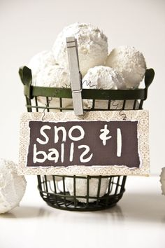Fabulous Faux Snowballs - Cover Styrofoam balls in Snow-Tex from Deco Art and display them or create a garland. #tutorial