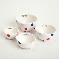 Sweet Dots Ceramic Measuring Cups
