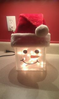 glass boxes, glass block, christma, the holiday