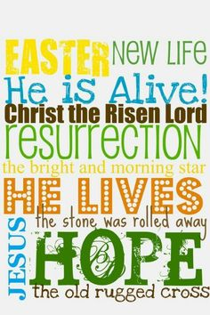 True meaning of Easter! easter idea, holiday, craft, subway art, color, jesus, easter printables, spring, easter subway