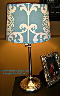 Lampshade re-do. So cute! #DIY #fabric