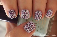 LOVIN this pretty mint mesh inspired mani!!!! ღ❤ღ