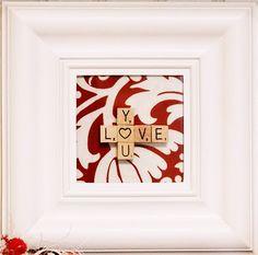 "Valentine ""Love You"" frame"