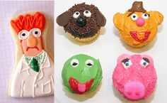 Muppets Party Food Ideas - Beaker Cookie - Muppet Cupcakes