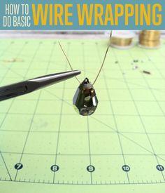 DIY Handmade Jewelry | Basic Wire Wrapping Tutorial | diyready.com