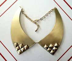 Brass Oxford Collar - For the lady with an extra edge. #curiouscatch.com