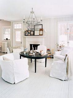painted white floors
