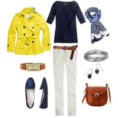 """""""Blue & White with a Twist of Lemon"""" by bluehydrangea on Polyvore"""