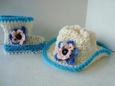 CROCHET A COWBOY HAT, newborn to 3 Months  ~ free pattern