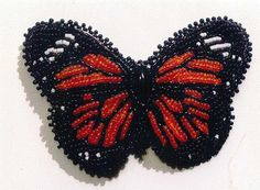 Monarch Beauty Bead Embroidered Barrette By by CLeasBeadwork, $30.00