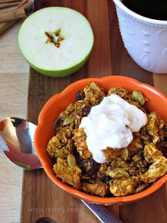 Simply Healthy Family: Pumpkin and Apple Spiced Granola. Thank you @1healthymamma