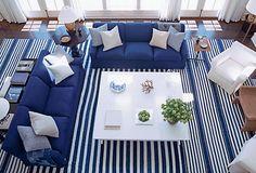 Power Couple: blue & white nautical navy stripes