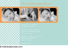 Photo Baptism/Christening Invitations :: Tiny Blessings Blue Design