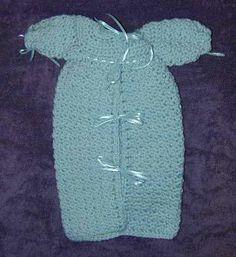 Beth's Preemie Boy's Bunting free crochet pattern