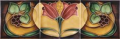 Moulded Art Nouveau Tiles - Lily and Berry