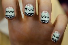 tribal patterned nails