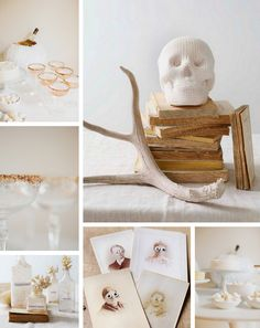 white halloween inspiration / a thousand threads
