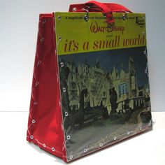 Vintage Custom Made Walt Disney Record Album Handbag Tote by 12be, $58.00