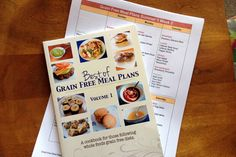 Grain Free Meal Plans - 7 days a week, 3 meals a day + snacks, prep instructions, and a calendar for the fridge