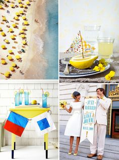 Modern Nautical: citron, ocean blue, and whitewash