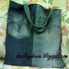 diy denim crafts | ... duotone #denim #denimbag #diy #crafts #sewing #bluedenim