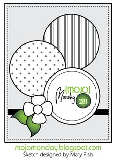 August Card Sketch Challenge - Bonus - Scrapbook.com - Love the 3 large circles!