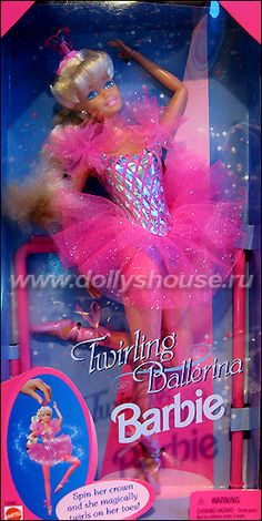 Woah! Memory lane! Gosh, looking at pictures of retired barbie models makes me feel old. Twirling Ballerina Barbie, 1995. I adored this barbie. pretty sure still in the basement