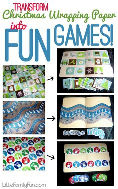 Little Family Fun: Transform Christmas Wrapping Paper into File Folder Games