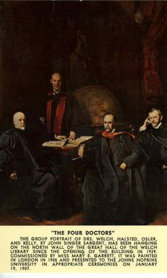 The Four Doctors.  A very famous piece of medical history, depicting the foundation of the Johns Hopkins Hospital in Baltimore Maryland