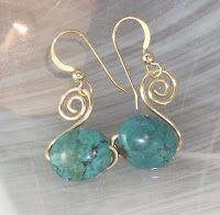 swan earring, jewelry tutorials, wire earrings, bead, wire wrapped earrings, jewelry making tutorials, spiral, jewelri, diy earrings