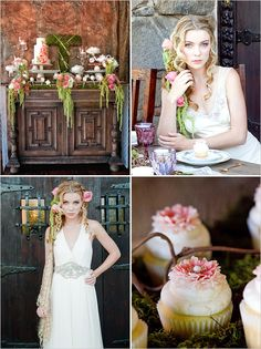 Tangled Wedding Inspiration by Couture Events, http://www.CoutureEventsSD.com Sweets by: Hey, there Cupcake!