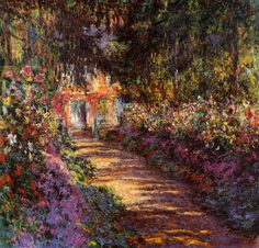 Pathway in Monet's Garden at Giverny - Claude Monet
