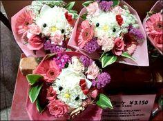 Hello Kitty flower bouquets #HelloKitty #Flowers #Japan little girls, hello kitti, valentine day, flower bouquets, kitti flower, floral arrangements, hellokitti, bridesmaid bouquets, hello kitty